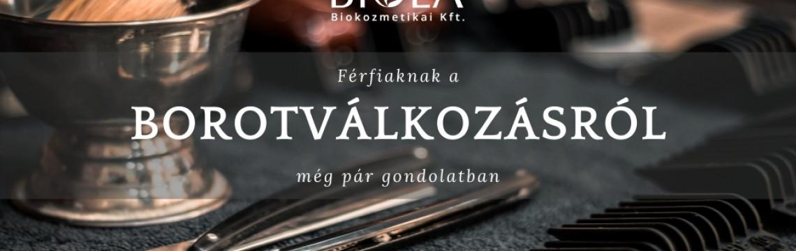 A FÉRFIAK BOROTVÁLKOZÁSÁRÓL MÉG PÁR GONDOLATBAN