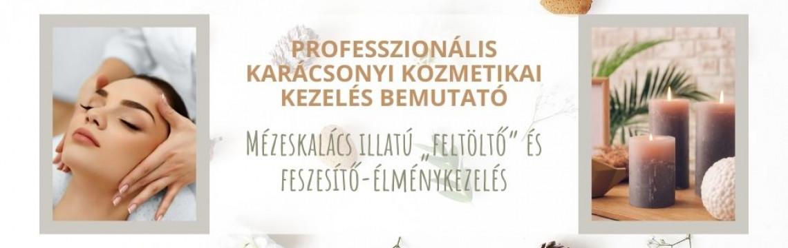 Professzionális Karácsonyi kozmetikai kezelés bemutató