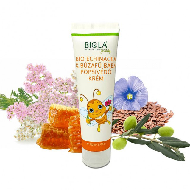 Bio Echinacea & Búzafű baba popsikrém Dermatológiailag tesztelt - 100 ml