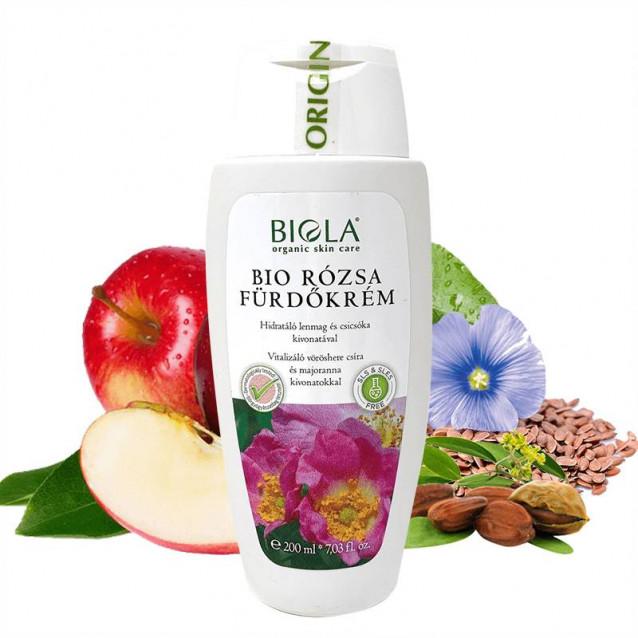 Bio rózsa fürdőkrém Dermatológiailag tesztelt - 200 ml