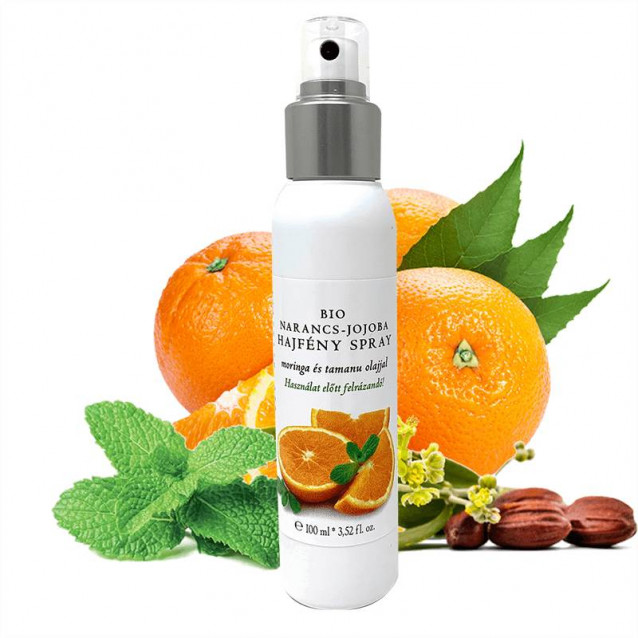 Bio narancs-jojoba hajfény spray - 100 ml