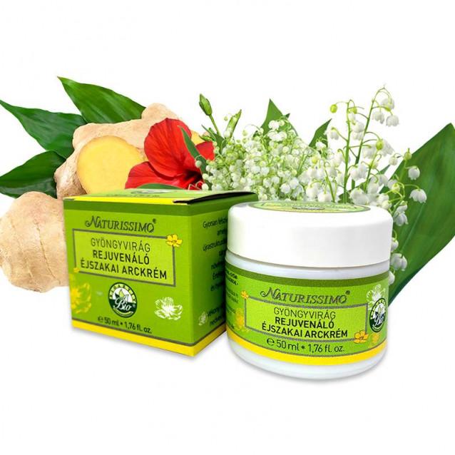Gyöngyvirág rejuvenáló éjszakai arckrém - 50 ml