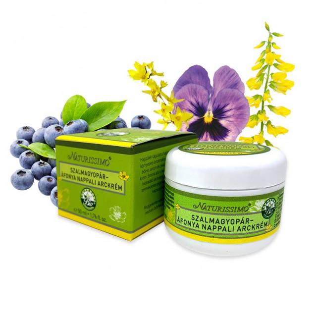Szalmagyopár-áfonya nappali arckrém - 50 ml