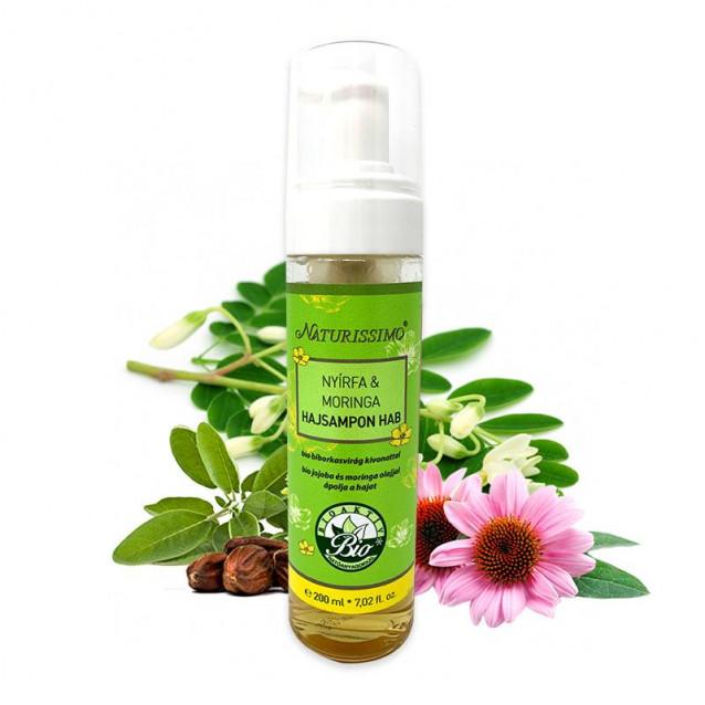 Nyírfa & Moringa Hajsampon Hab - 200 ml