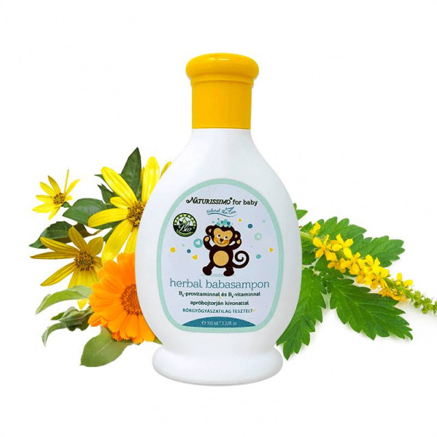 Herbal baba sampon Dermatológiailag tesztelt - 100 ml