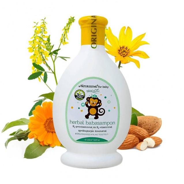 Herbal baba sampon Dermatológiailag tesztelt - 250 ml