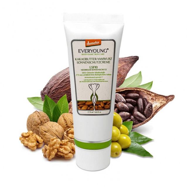 Kakaóvaj-yam fényvédő krém (75,15% öko, 66%+ Demeter) - 75 ml