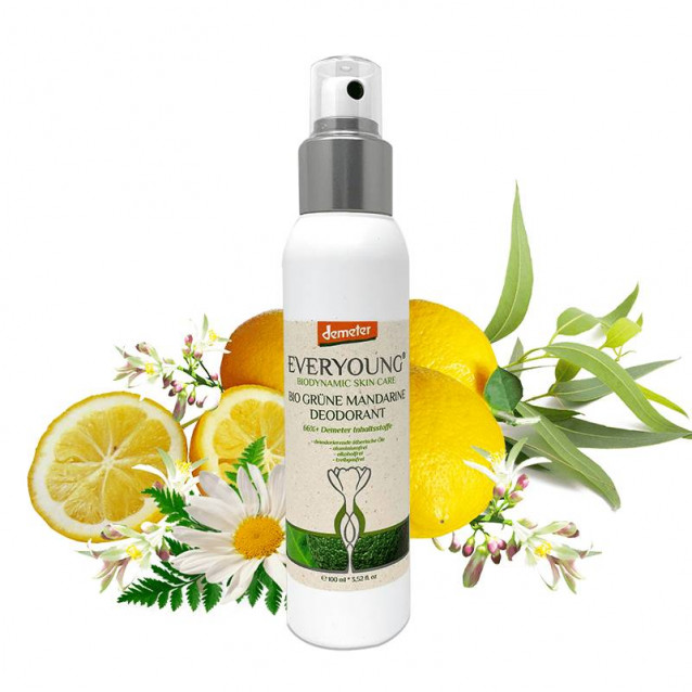Bio mandarin dezodor (66%+ Demeter)natural spray (pumpás flakon) - 100 ml