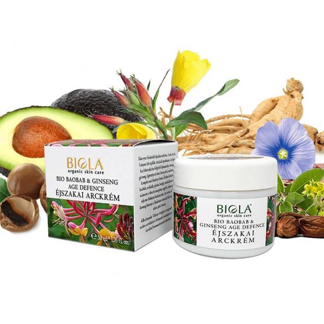 Bio baobab & ginseng age defence éjszakai arckrém - 50 ml